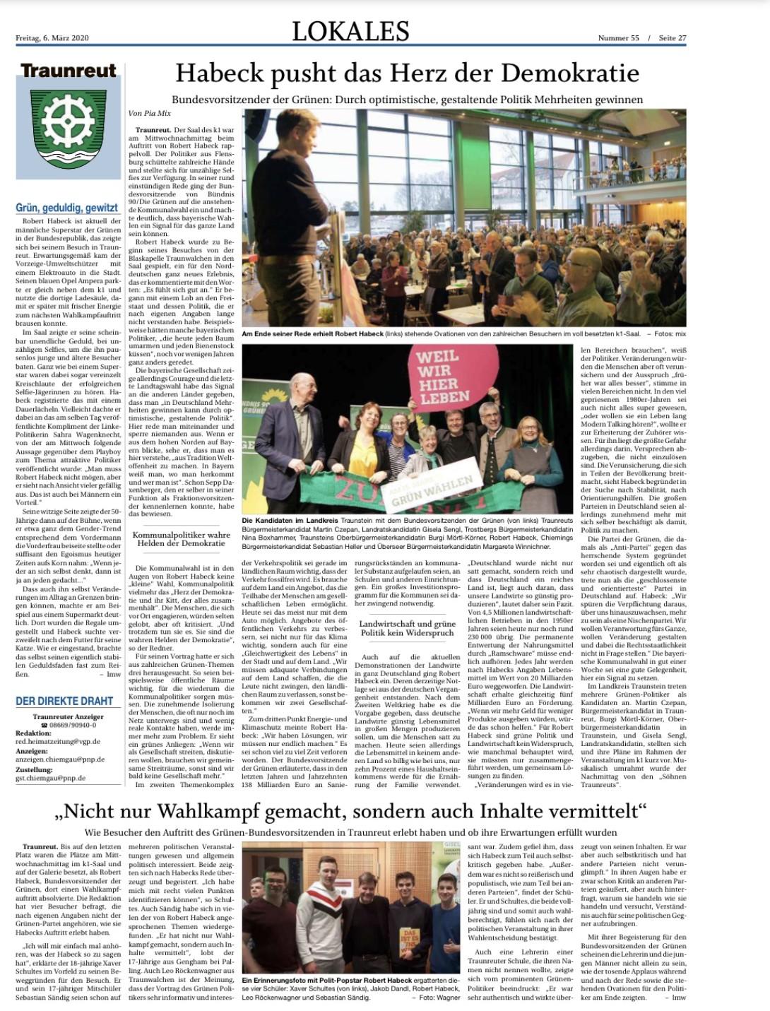 Trostberger Tagblatt 06.03.2020 Habeck
